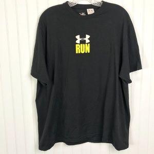 UNDER ARMOUR Run, don't be last Black Mens Shirt L